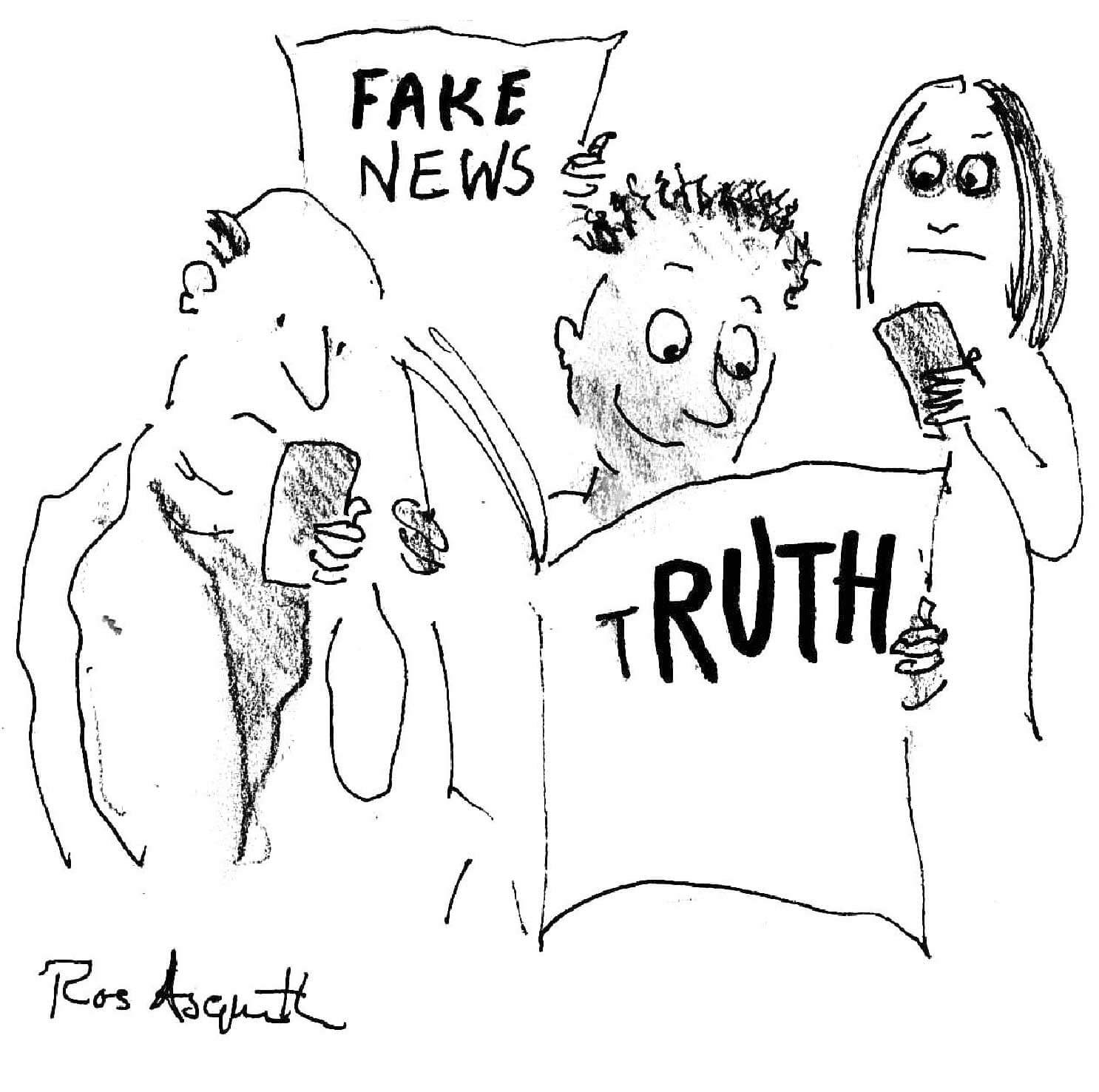 Ruth Whitehead Associates - Media cartoon