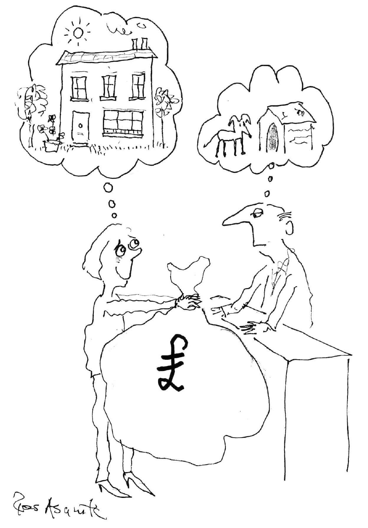 Ruth Whitehead Associates - mortgages cartoon