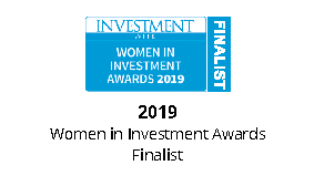 Women in investment FINALIST logo